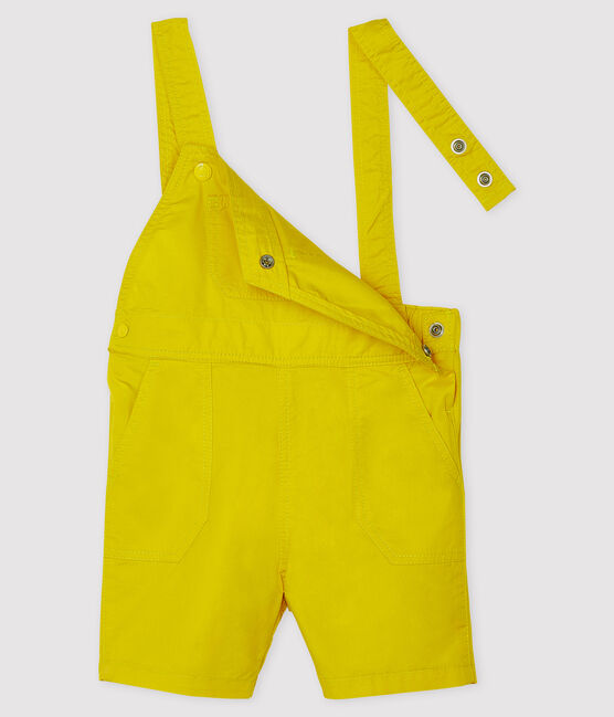 Salopette courte bébé garçon jaune Gengibre