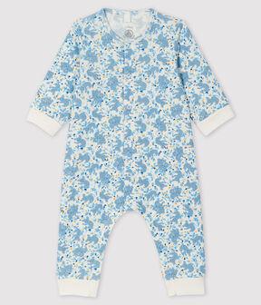 Combinaison longue à imprimé koala bébé garçon en côte blanc Marshmallow / blanc Multico