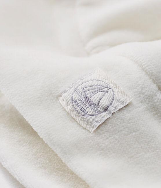 Bonnet naissance bébé en côte blanc Marshmallow