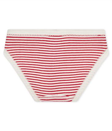 Culotte petite fille blanc Marshmallow / rouge Terkuit