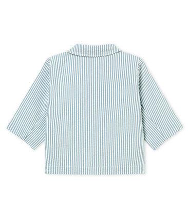Veste bébé garçon rayée bleu Fontaine / blanc Marshmallow