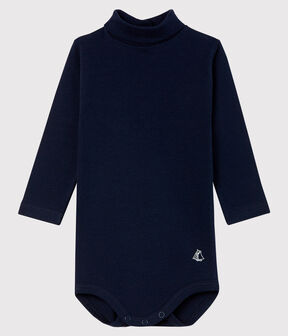 Body manches longues col roulé bébé bleu Smoking