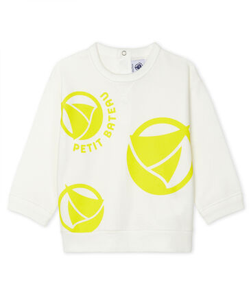Sweatshirt léger bébé mixte blanc Marshmallow