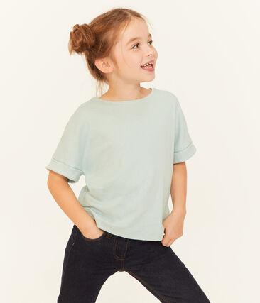 Tee-shirt à manches courtes enfant fille bleu Crystal