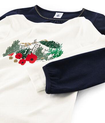 Lot de deux t-shirts enfant fille