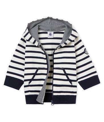 Sweatshirt à capuche rayure marinière bébé garçon