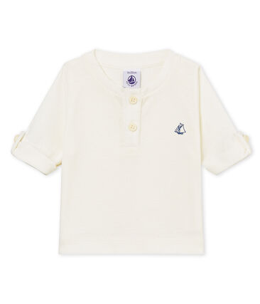 Tee-shirt manches longues bébé garçon en coton lin