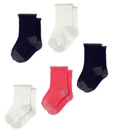 Lot de 5 paires de chaussettes essentielles bébé fille