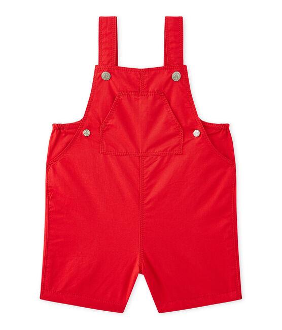 Salopette courte bébé garçon rouge Terkuit