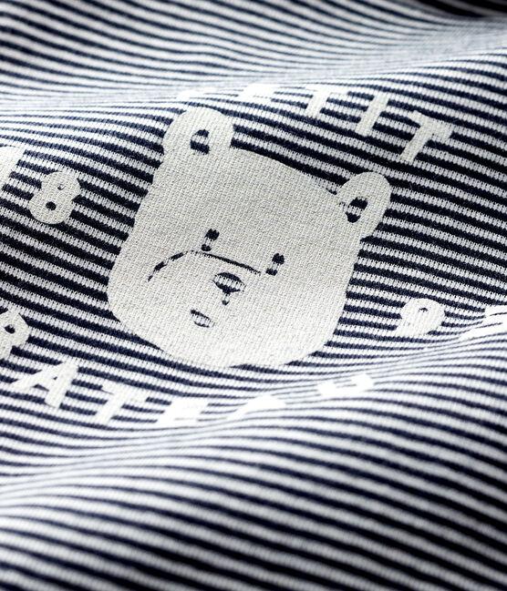 Body manches longues col roulé bébé bleu Smoking / blanc Marshmallow