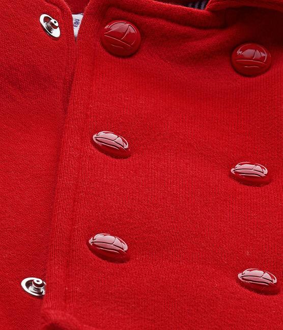 Caban bébé mixte en molleton rouge Terkuit