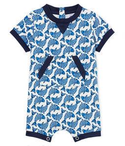 Combicourt bébé garçon en jersey léger imprimé