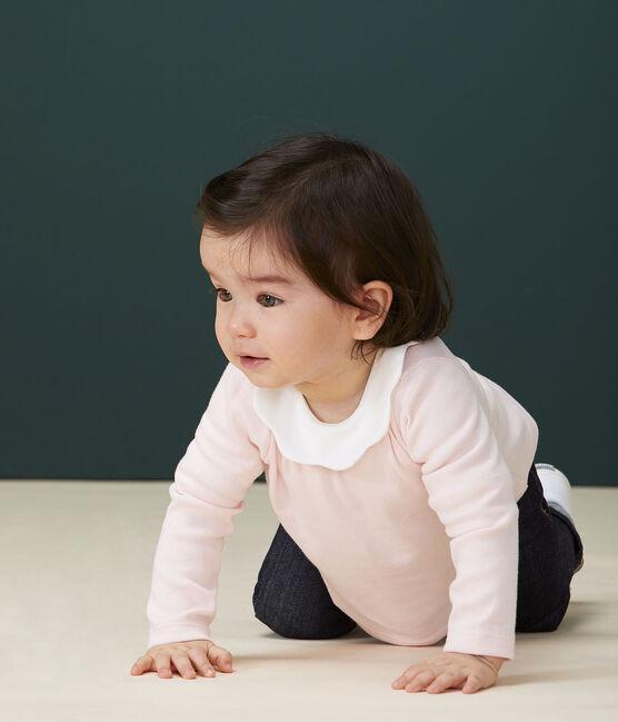 Blouse manches longues bébé fille rose Minois