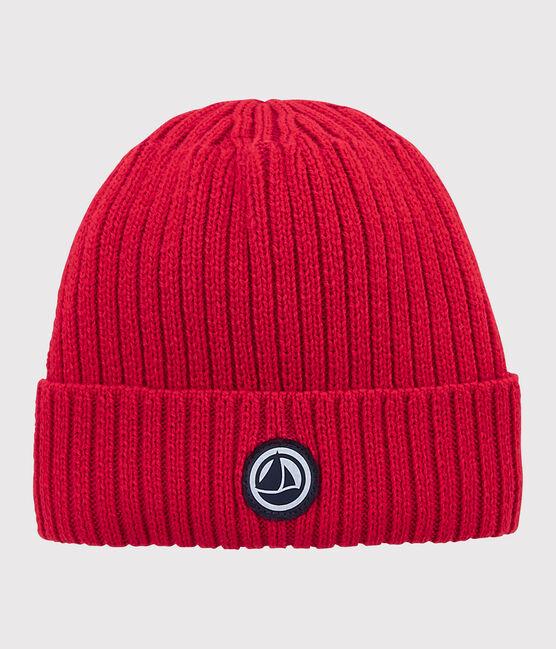 Bonnet en tricot enfant garçon - fille rouge Terkuit