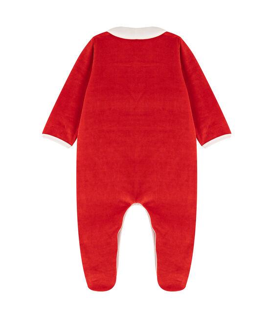 Dors bien bébé à col en velours rouge Terkuit