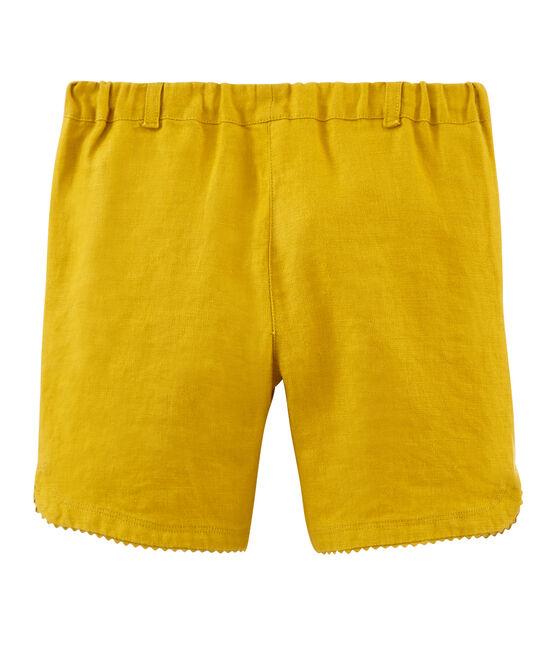 Short enfant fille jaune Bamboo
