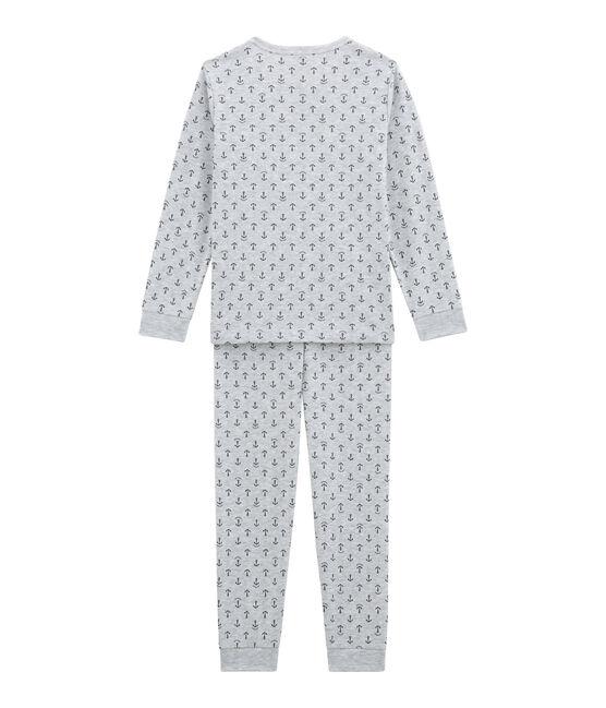 Pyjama petit garçon gris Poussiere / bleu Medieval