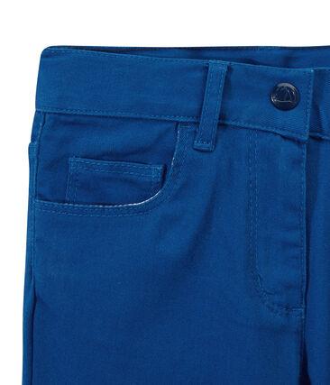 Pantalon fille en jean de couleur