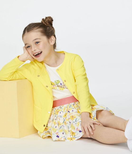 Cardigan enfant fille jaune Eblouis