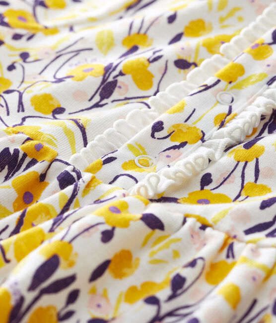 Robe manches courtes bébé fille blanc Marshmallow / blanc Multico