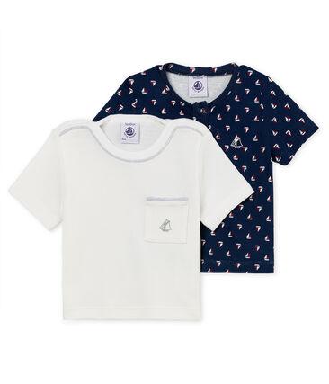 Lot de 2 tee-shirts manches courtes bébé garçon