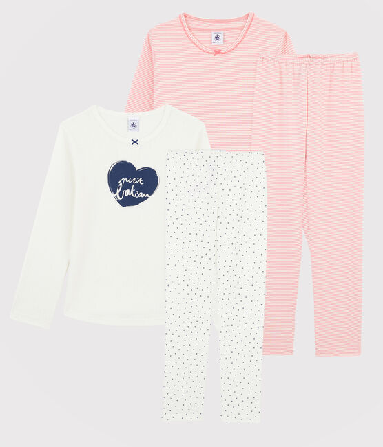 Lot de 2 pyjamas petite fille en côte lot .