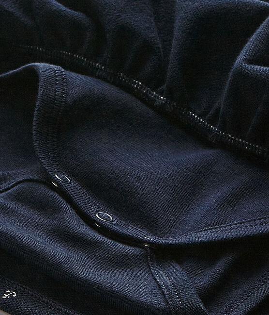 Robe bébé fille bleu Smoking / blanc Feta