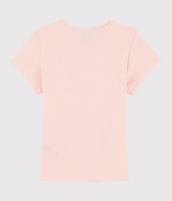 Tee shirt sérigraphié enfant fille rose Minois