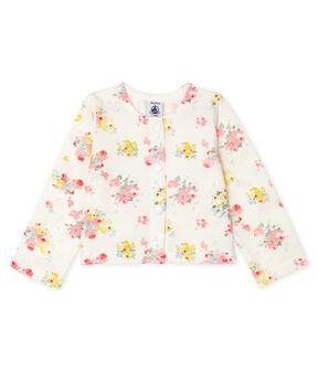 Cardigan bébé fille imprimé blanc Marshmallow / blanc Multico