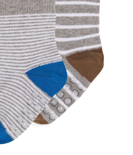 Lot de 2 paires de chaussettes bébé garçon blanc Marshmallow / gris Subway