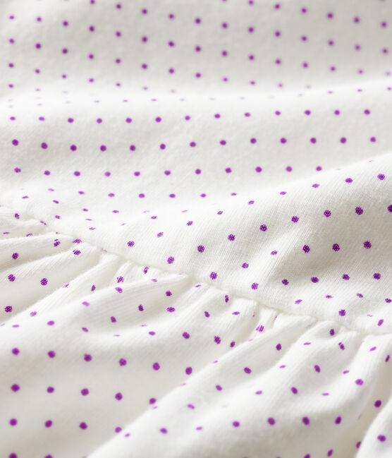 Robe body imprimée bébé fille violet Real / blanc Marshmallow