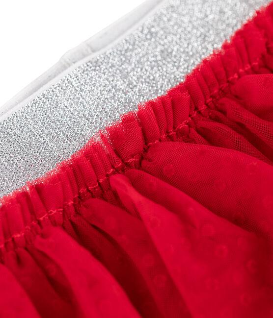 Legging bébé avec jupe en tulle rouge Terkuit