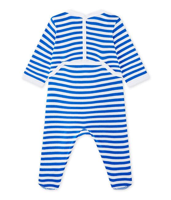 Dors bien bébé garçon à rayures bleu Perse / blanc Ecume