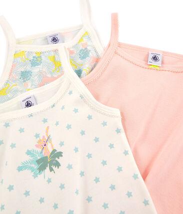 Trio de chemises à bretelles petite fille lot .