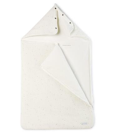 Nid d'ange bébé en tubique blanc Marshmallow / blanc Multico
