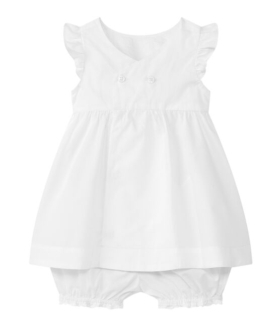 Ensemble 2 pièces bébé fille blanc Ecume