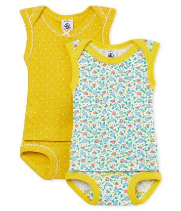 Duo de bodies-culottes 2 en 1 bébé fille