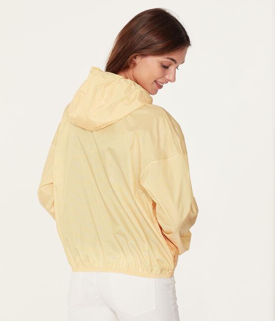 Coupe-vent court mixte jaune Honey / blanc Marshmallow