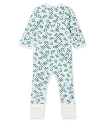 Dors bien bébé garçon en côte blanc Marshmallow / blanc Multico