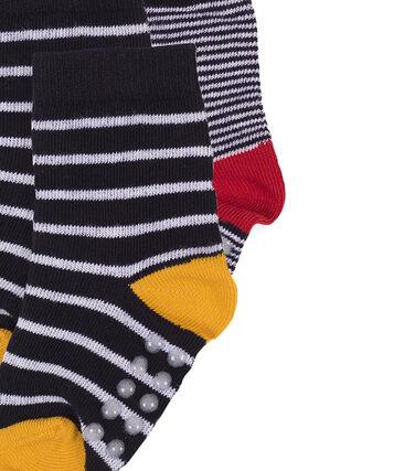 Lot de 2 paires de chaussettes bébé garçon blanc Marshmallow / bleu Smoking