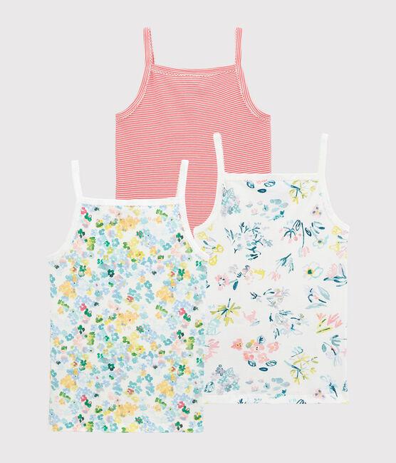 Lot de 3 chemises à bretelles à fleurs petite fille lot .