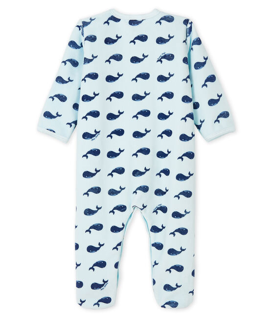 Dors-bien baleine bébé garçon en velours