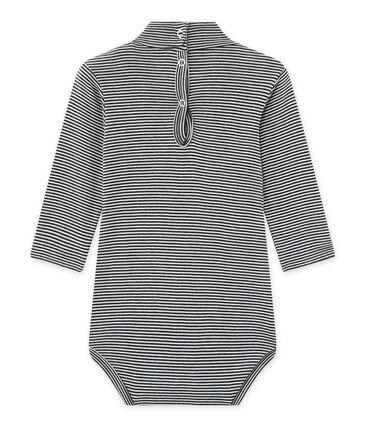 Body bébé mixte à col roulé rayé milleraies