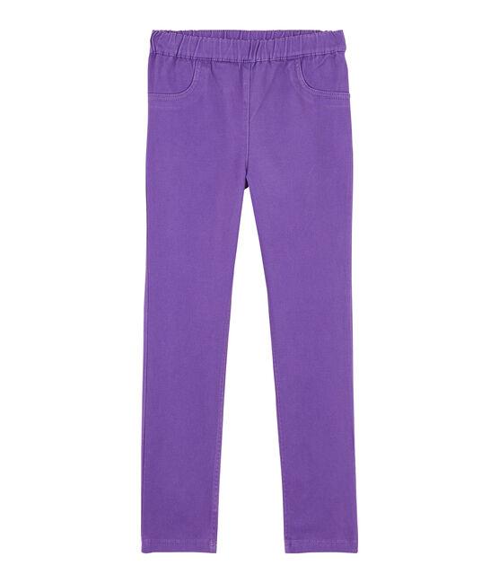 Jean slim stretch enfant fille violet Real