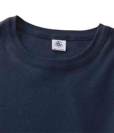 Tee shirt manches courtes iconique femme bleu Smoking