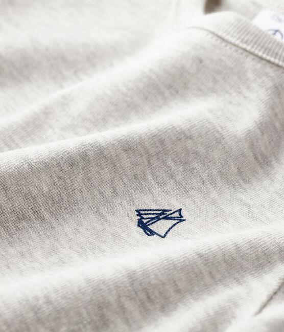 Tee shirt manches longues bébé gris Beluga