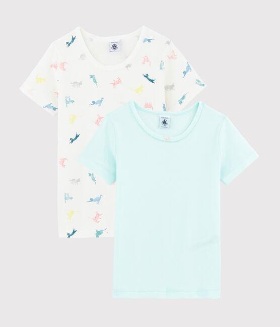 Lot de 2 tee-shirts manches courtes chats colorés petite fille lot .
