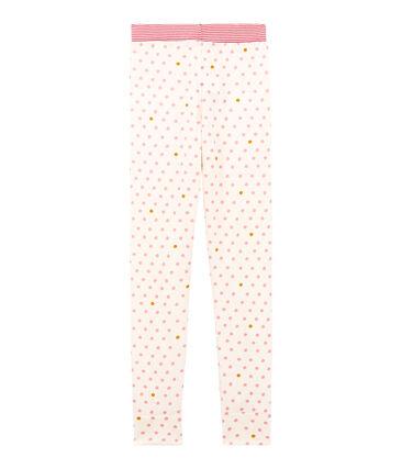 Pantalon de pyjama petite fille blanc Marshmallow / blanc Multico