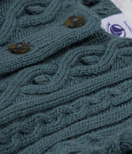 Cardigan torsadé bleu Atlantic