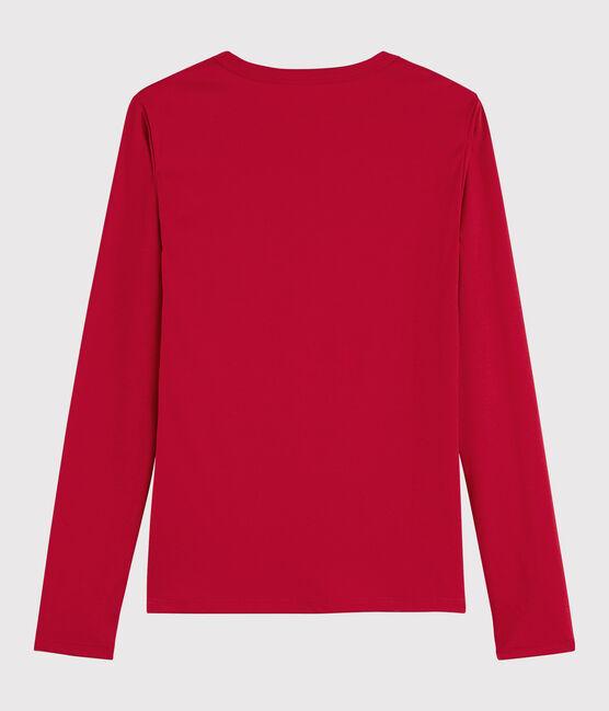 T-shirt coton Sea Island Femme rouge Terkuit
